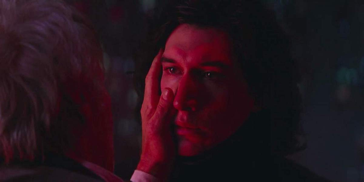 Kylo Ren before he kills Han Solo, Star Wars: The Force Awakens