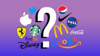 A colourful montage of lots of famous logos