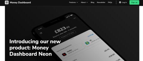 Money Dashboard Neon