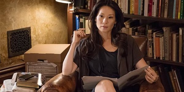 Lucy Liu looking casual on Elementary