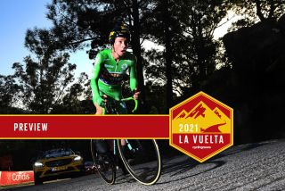 Primoz Roglic (Jumbo-Visma) during the stage 13 time trial at the 2020 Vuelta a Espana