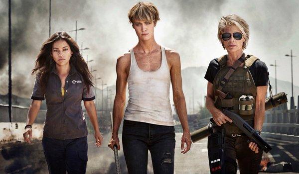Natalia Reyes, Mackenzie Davis, and Linda Hamilton in Terminator 6
