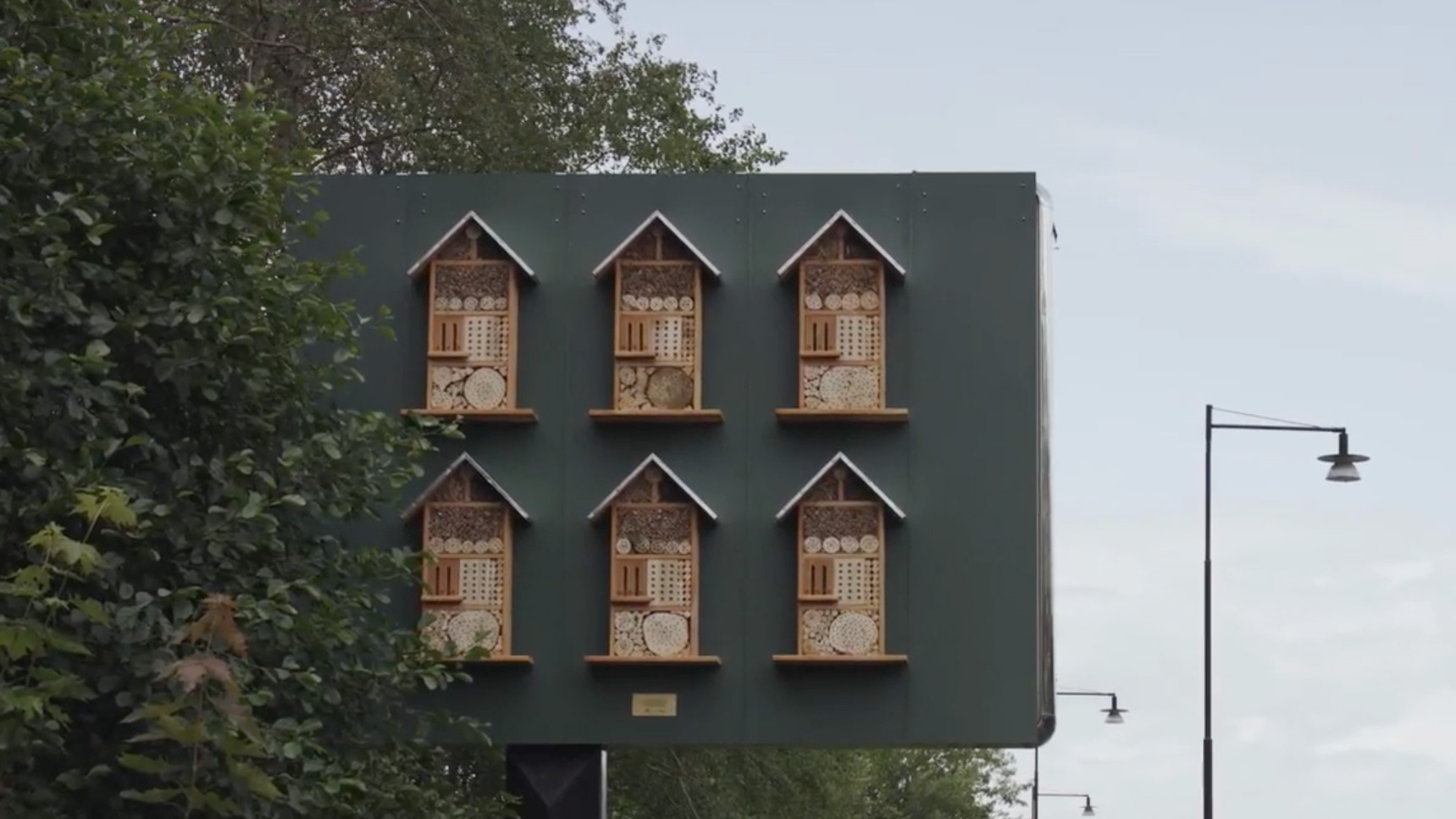 McDonald's is turning its billboards into bee hotels | Creative Bloq