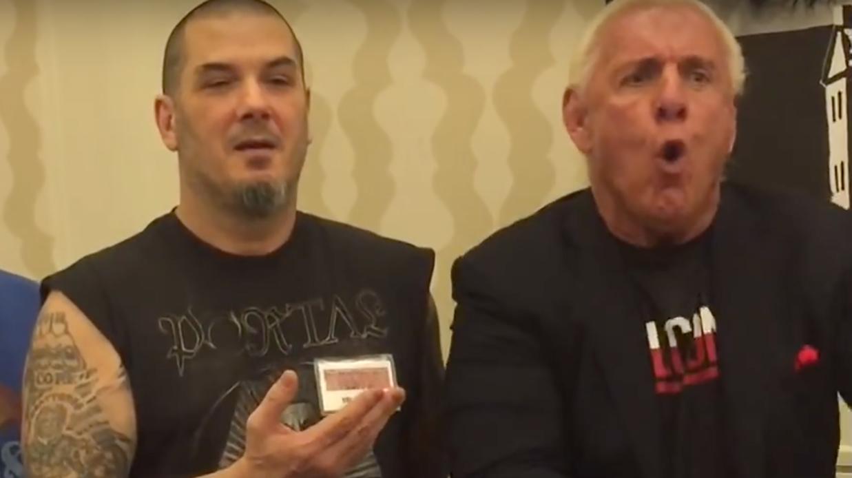 e2b9e156 WTF? Ric Flair gives Phil Anselmo a chop to the chest | Louder