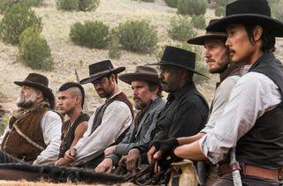 Magnificent Seven Vincent D'Onofrio Martin Sensmeier Manuel Garcia-Rulfo Ethan Hawke Denzel Washington Chris Pratt Byung-hun Lee