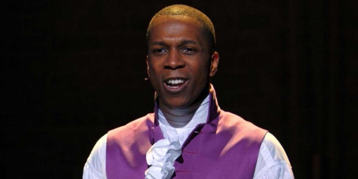 Aaron Burr (Leslie Odom Jr.) sings in Hamilton
