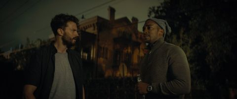 Anthony Mackie and Jamie Dornan in 'Synchronic.'