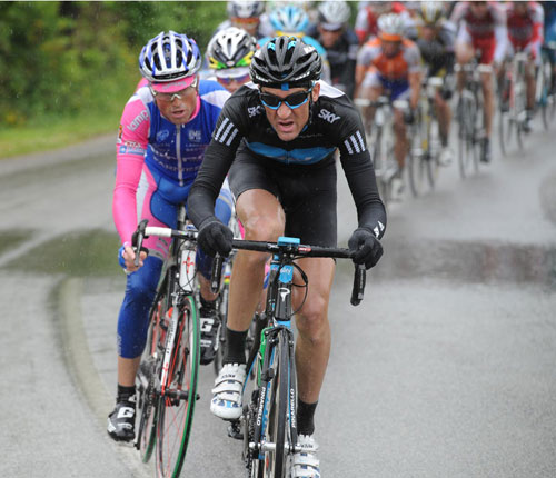 Michael Barry chases, Giro d'Italia 2010, stage 7