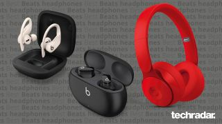 three pairs of beats headphones