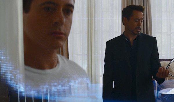 Tony Stark using B.A.R.F. tech in Captain America: Civil War