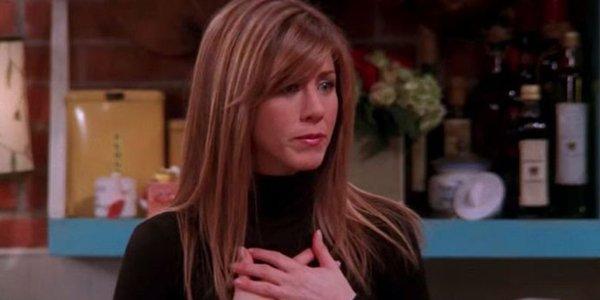 Netflix screenshot of Rachel with long hair on Friends