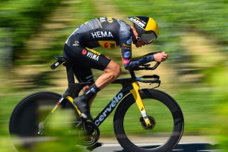Sepp Kuss (Jumbo-Visma) during the stage 1 time trial at the Vuelta a Espana