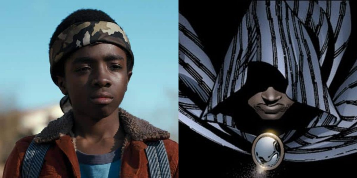 Stranger Things' Caleb McLaughlin and Cloak from X-Men