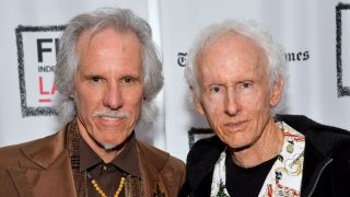 John Densmore (L) and Robby Krieger attend the Film Independent at LACMA Presents An Evening With The Doors event at Bing Theatre At LACMA on December 5, 2013 in Los Angeles, California.