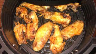 Chicken wings in an air fryer