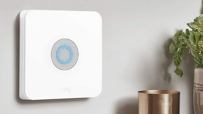 Ring Alarm 5-Piece Kit hub mounted on wall