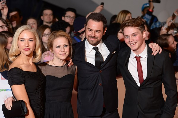 Maddy Hill, Kellie Bright, Danny Dyer and Sam Strike at an awards ceremony