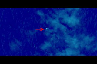 Chinese Satellite Image of Floating Objects #1