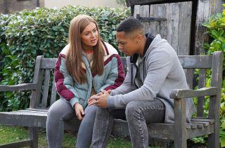 EastEnders Tiffany Butcher suggests she and Keegan Baker elope