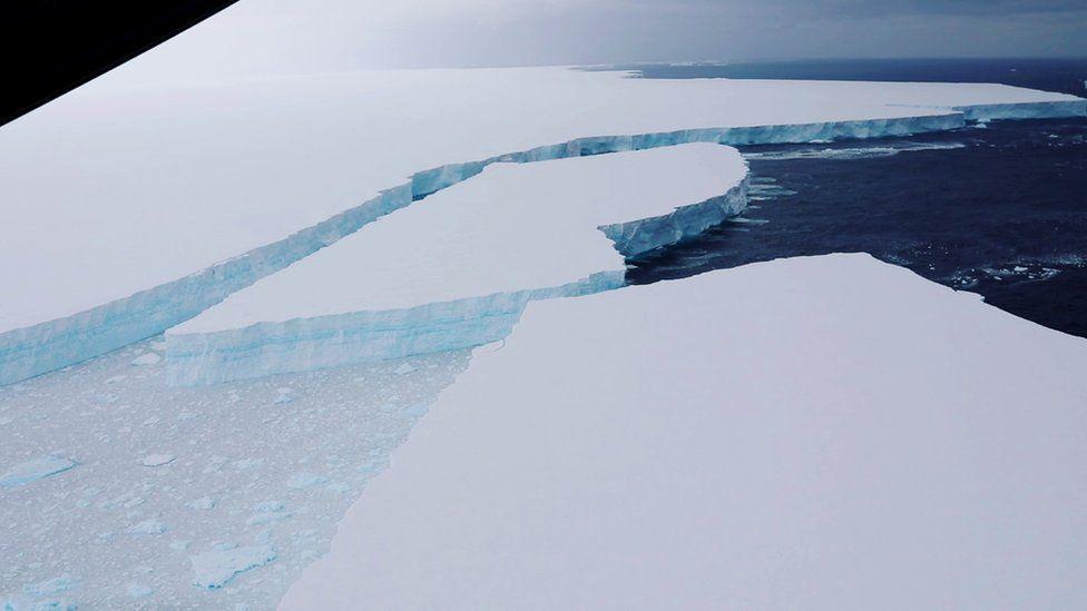 World's largest iceberg still barreling toward penguin habitat, new footage confirms