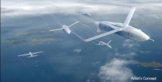 An artist's depiction of what the small surveillance drones might look like.
