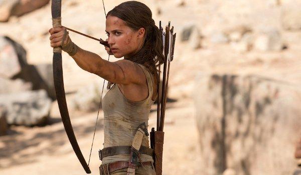 Tomb Raider Alicia Vikander Lara Croft takes aim with bow