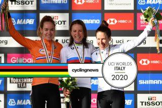 The podium at the 2019 World Championships