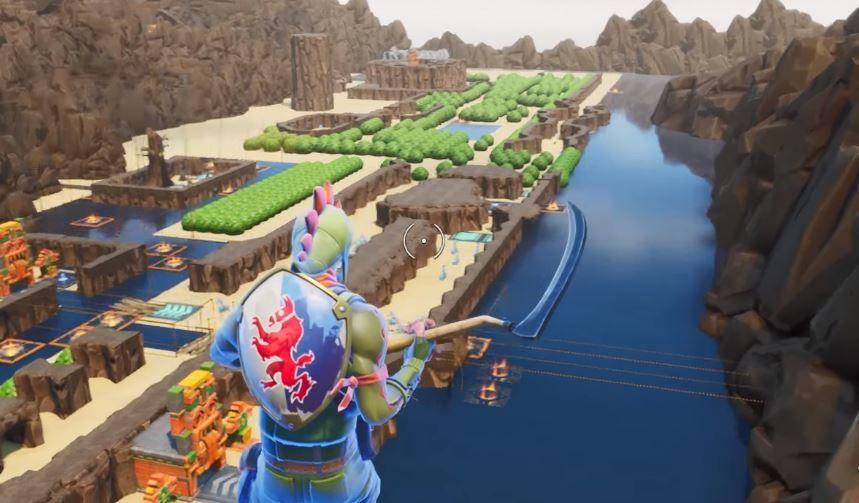 The original Legend of Zelda map recreated in Fortnite looks pretty ...