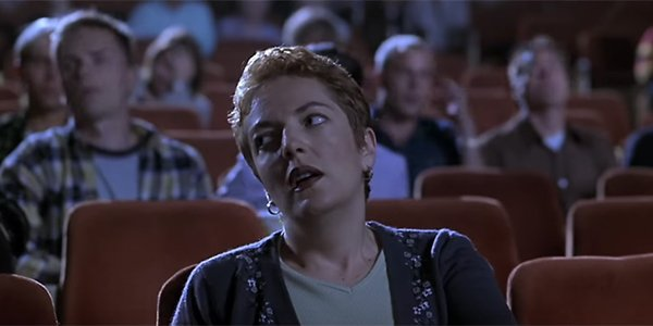 An annoyed theatergoer in Scary Movie