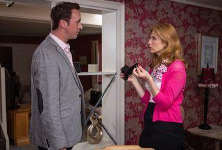 Bernice Blackstock confronts Liam in Emmerdale