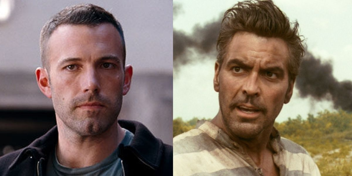 Ben Affleck in The Town & George Clooney in O' Brother Where Art Thou?