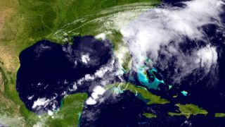 Tropical Storm Debby near Florida