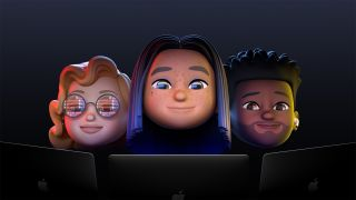 Apple Memojis starren auf Computermonitore