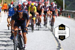 ANDORRE-LA-VIEILLE, ANDORRA - JULY 11: Richie Porte of Australia and Team INEOS Grenadiers leads The Peloton during the 108th Tour de France 2021, Stage 15 a 191,3km stage from Céret to Andorre-la-Vieille / @LeTour / #TDF2021 / on July 11, 2021 in Andorre-la-Vieille, Andorra. (Photo by Tim de Waele/Getty Images)