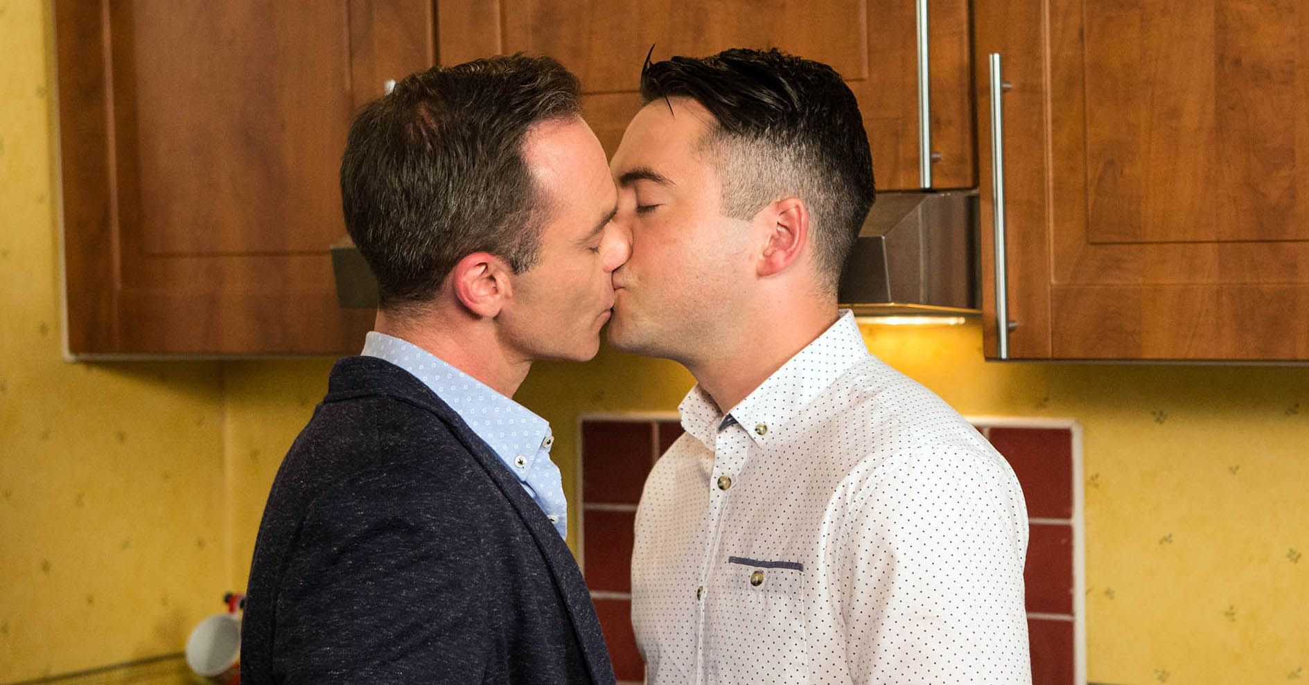 Billy Mayhew and Todd Grimshaw in Coronation Street