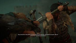 Assassin's Creed Valhalla Rued spare or kill