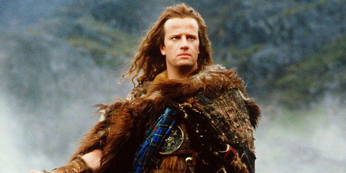 Christopher Lambert as connor Macleod in Highlander