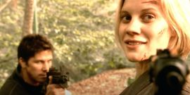 Battlestar Galactica's Katee Sackhoff Shares Sweet Throwback To Her 'First And Best' TV Husband Anders