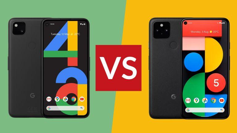 Google Pixel 4A vs Google Pixel 5 side by side