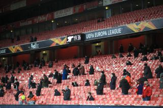 Arsenal supporters returned to the Emirates Stadium for the first time in nine months to watch their win over Rapid Vienna.