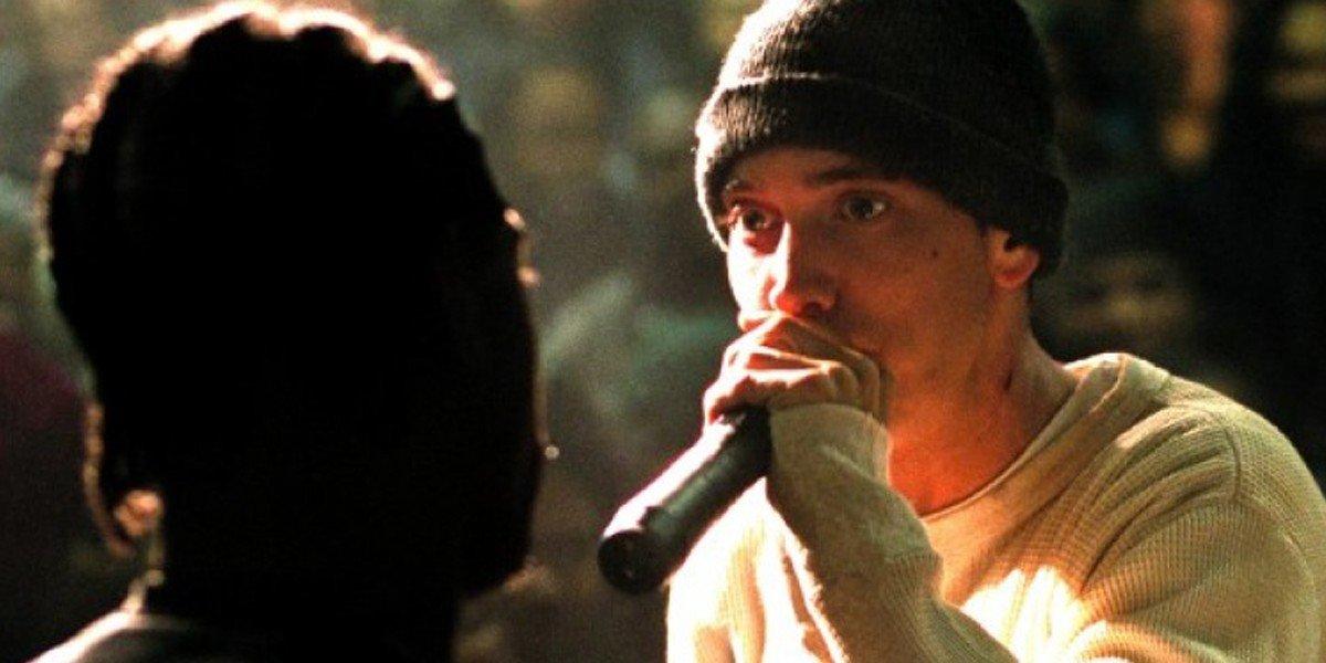 Eminem on the mic