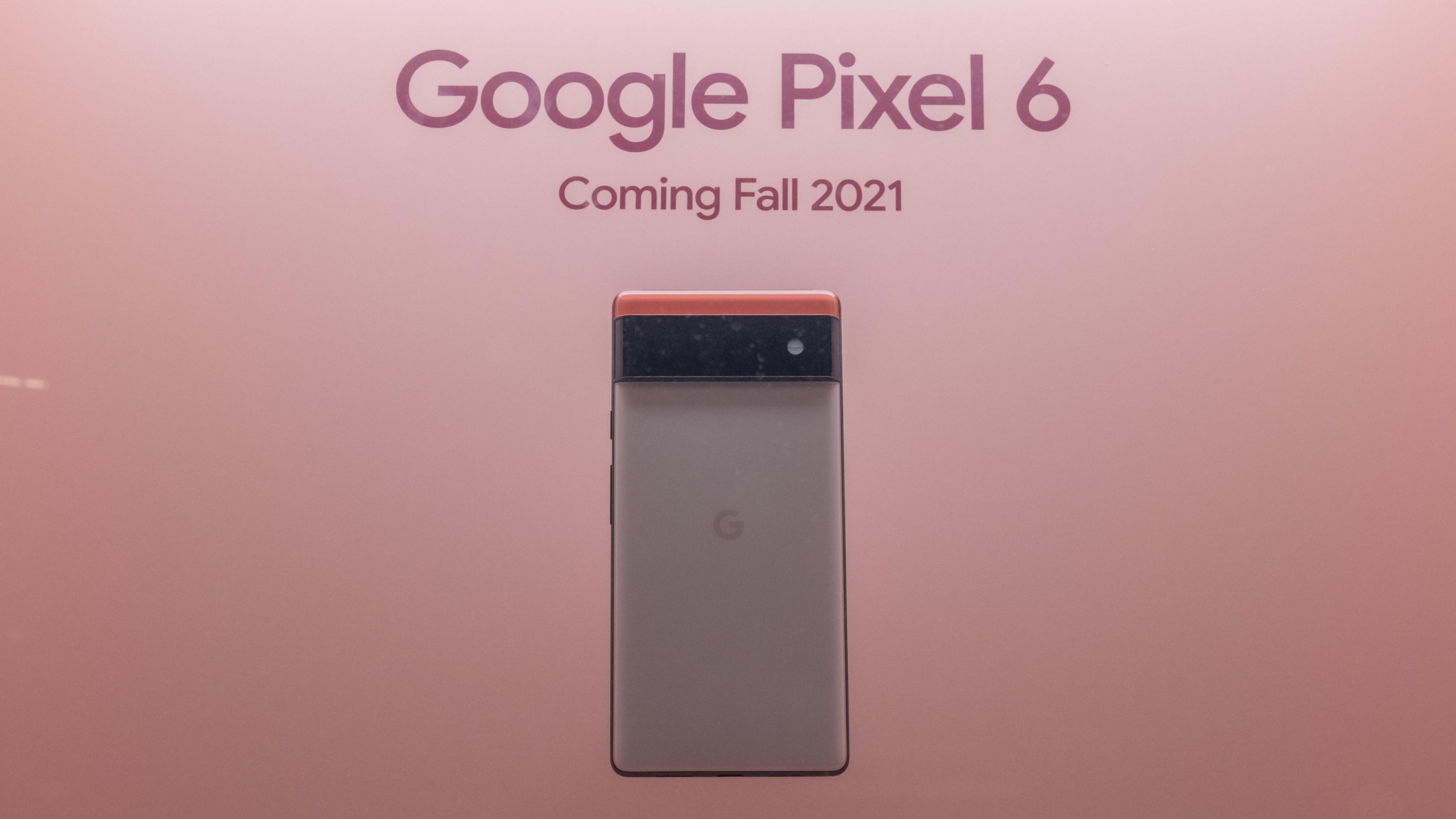 Google Pixel 6 phones on display