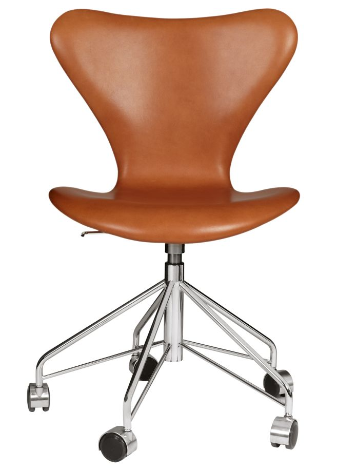 stylish office chairs. Series 7 Swivel Chair In Elegance Leather Tan, £2,444, Arne Jacobsen For Fritz Hansen At The Conran Shop Stylish Office Chairs I