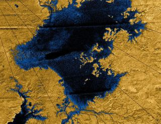 Image of Methane Rivers on Saturn's Moon Titan