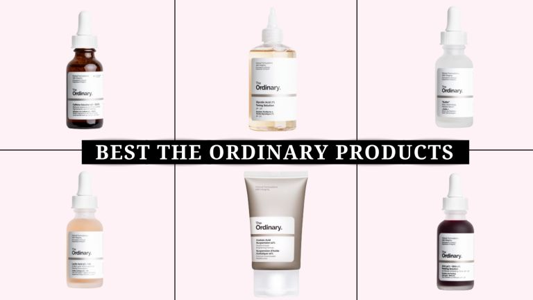 collage of the best The Ordinary products