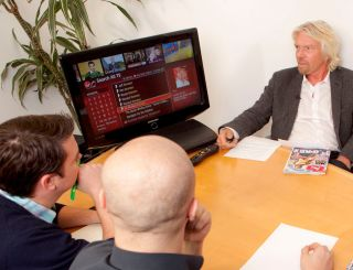 Branson meets TechRadar - and the new Virgin Media TiVo box