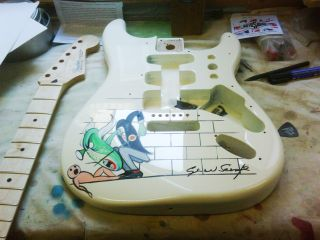 The Wall Stratocaster finished by Gerald Scarfe