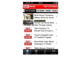 Sky News app on iPhone - coming to world of TV widgets