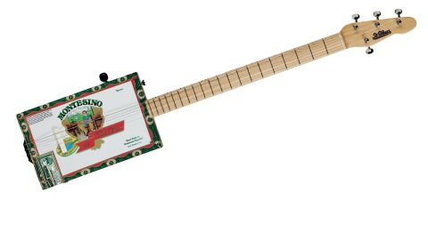 The long, thin neck has a Fender-style head, decent Grover tuners and a nicely cut bone nut
