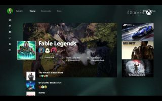 New Xbox One UI